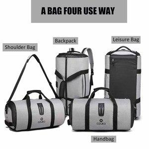 Image 4 - OZUKO 9209 Men Travel Garment Bag Women Duffel Bag Hanging Suitcase Clothing Business Backpack Bag Multiple Pockets