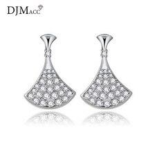 DJMACC высокое качество 925 стерлингового серебра Neddle классический микроинкрустация циркония секторные серьги гвоздики для женщин модные ювелирные изделия(DJ0875