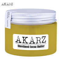 AKARZ brand Unrefined Cocoa butter high-quality origin Ivory Coast Yellow solid Skin face care Cosmetic raw materials base oil