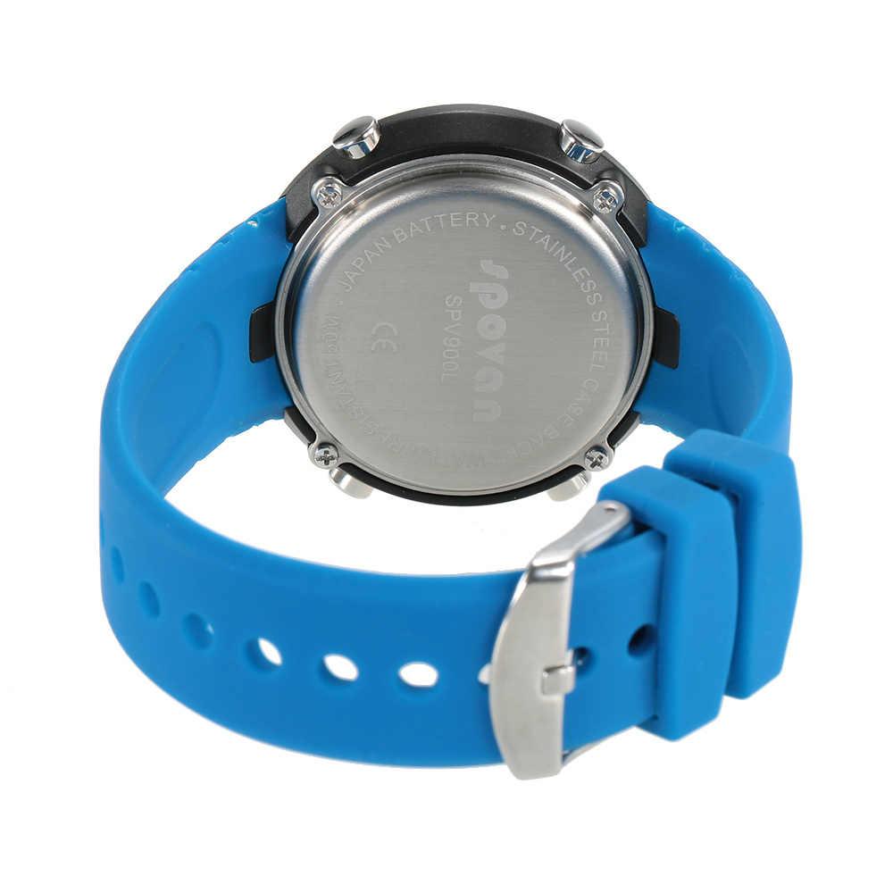 Outdoor Sports Digital Watch Smart Wrist Watch Heart Rate Monitor Pedometer Fitness Tracker Alarm Calendar 5ATM Water Resistant