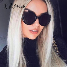 Semi-Rimless Cat eye Cateye Big Brand Designer Women Sun Glassess Female Mirror Sunglasses Lady UV400 Flat Lens Vintage