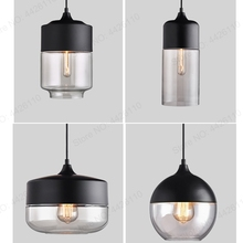 Nordic Glass Pendant LED Lamp Fixtures for Home Restaurant Bar