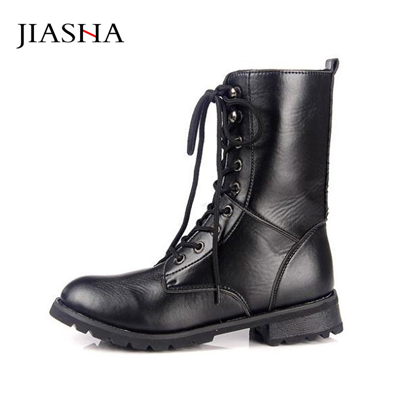 2018 Winter autumn Lace-up Martin boots motorcycle boots women boots  British fashion handsome Rivets boots beango front lace up women biking boots do old leather vintage style long boots rivets motorcycle martin boots