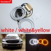 for Kia Sorento 2006 2007 2008 2009 White & yellow Cotton LED Angel eyes kit halo ring Turn signal light