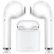 I7s TWS Mini Sem Fio Bluetooth Fone de Ouvido Estéreo Fone de Ouvido Fone de Ouvido Com Microfone Para Todos Os telefones Inteligentes de Carregamento da Caixa