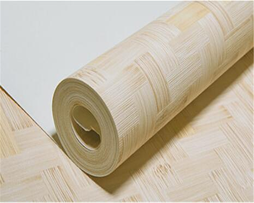 Beibehang Imitation bamboo edged 3d wallpaper bamboo mat noodle hotel hotel study bedroom living room background wallpaper roll beibehang warm 3d small leaf pink shallow green 3d wallpaper bedroom living room hotel corridor background 10 m wallpaper roll