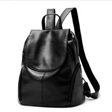2017 New Women Backpack High Quality Youth Leather Backpacks for Teenage Girls Female School Shoulder Bag Bucket Bag mochila