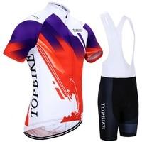 Short Sleeve Cycling Jersey Sets Men Summer Pro Team Cycling Kits Clothing Bicycle Sports Wear For MTB Bike Shirt