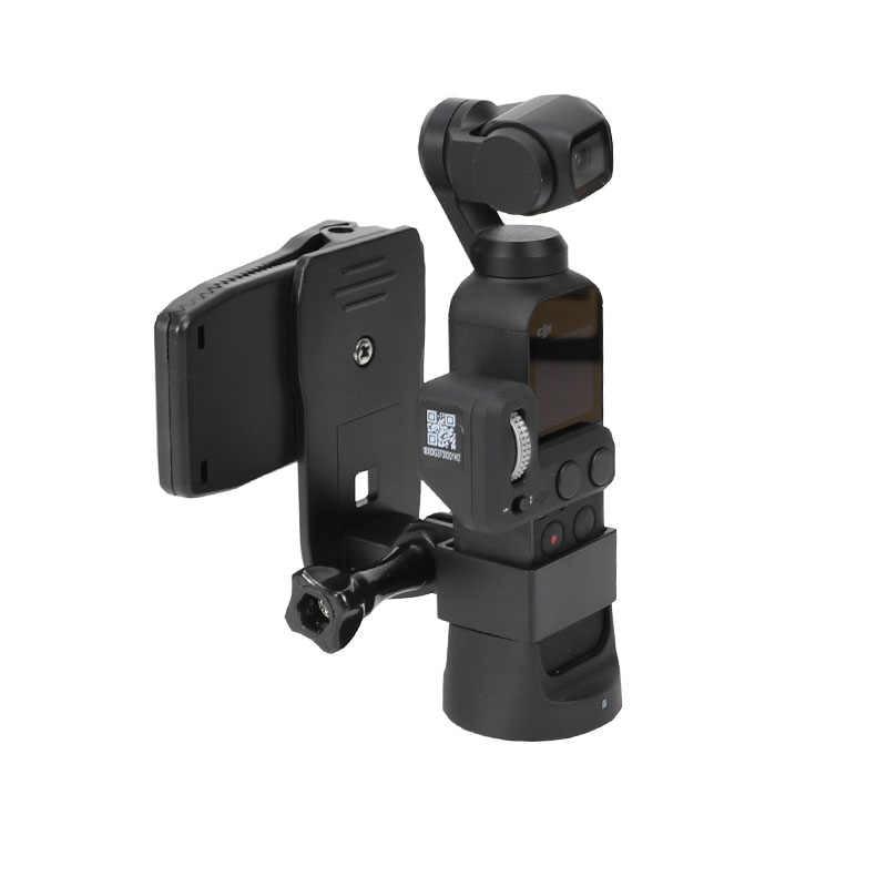RuleaxA Expansion Base Adapter Holder Bracket Mount /& Backpack Bag Clip Clamp Kit for DJI OSMO Pocket Handheld Gimbal Camera Stabilizer Accessory