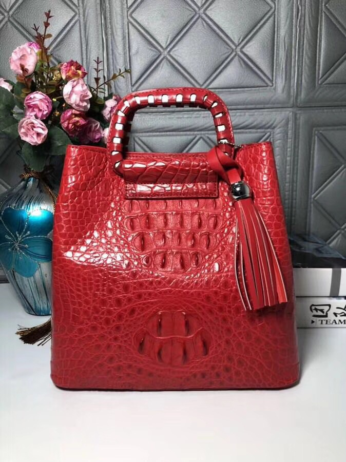 Unique Designer Genuine Crocodile Skin Female Soft Shoulder Bag Medium Size Handbag Alligator Leather Women Tassel Clutch Purse цена