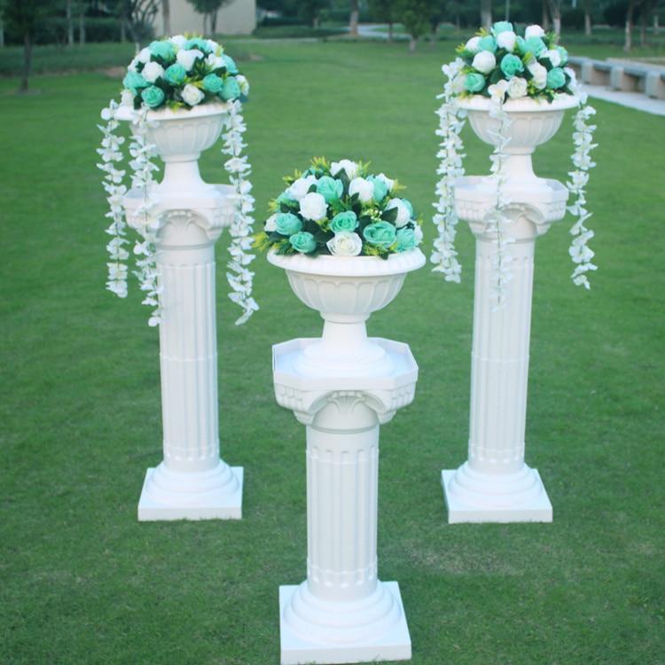 4pcs/lot wedding Plastic roman column plastic pillars wedding stands ...