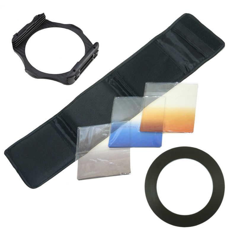 6 Trong 1 Camera Lens Kit Lọc Túi 49 52 55 58 62 67 72 77 82 mét Adapter Nhẫn Giữ Chủ Gradient Màu Xanh Da Cam Màu Xám Cokin P Lọc