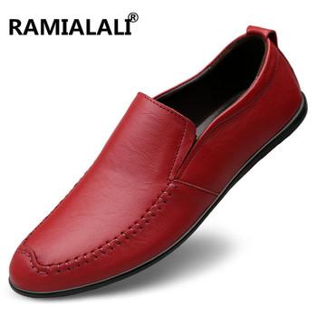 Wysokiej jakości męskie buty z prawdziwej skóry buty w stylu casual okrągły nosek Slip on oryginalne skórzane buty męskie codzienne buty płaskie buty męskie obuwie tanie i dobre opinie Dla dorosłych Przypadkowi buty Stałe Slip-on Wiosna jesień Mokasyny Oddychająca Wysokość zwiększenie Masaż Skóra bydlęca