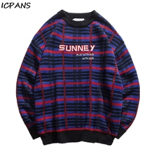 ICPANS Hip Hop Streetwear Sweater Men Casual Cotton Polyester O Neck Man Pullovers Long Sleeve 2019 Winter Autumn Loose