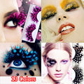 Colorful Dot Feather Crazy False Eyelashes Long Costume Party Eye Lashes Cosplay