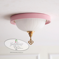 Nordic pink white bedroom ceiling light lucky gold key led lamp bedroom light ceiling lamp cloakroom home decoration lighting
