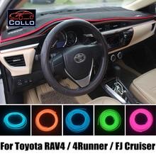 9 М EL Провода Для Toyota RAV4/Авангард/4 Runner/Hilux Surf/FJ Cruiser/Украшение Автомобиля Холодный Свет Романтическую Атмосферу лампы