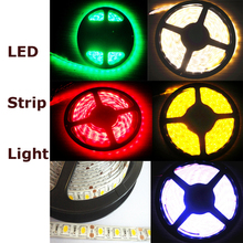 GLW 5M LED Strip 5050 DC12V LED strip flexible light waterproof Warm white cool white Flexible red blue green RGB(China)