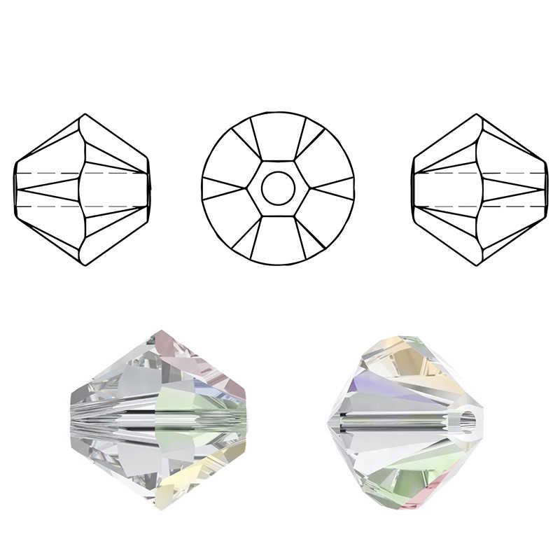 Comprar 1 e obter 1 frete 4 milímetros brilhante grânulos De Cristal Bicone Contas De Vidro Soltos Spacer Beads para pulseira jó