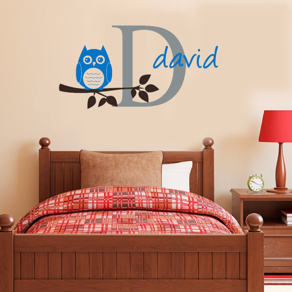 Personalised Wall Stickers Owl PromotionShop For Promotional - Custom vinyl stickers for promotion