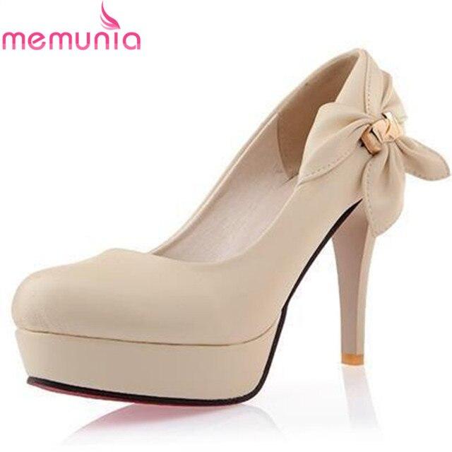 4 Colors beige blue pink women pumps Sexy Prom Red Bottom shoes bowtie platform Women Pumps Ladies Wedding Shoes