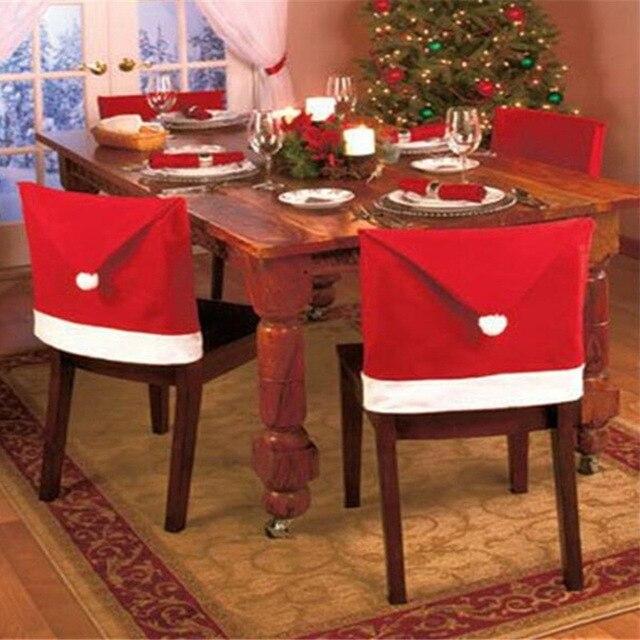 2016 1 ШТ. Председатель Обложка нетканые Enfeites Para Casa Ужин Скатерти Navidad Рождество Новогодние Украшения для дома