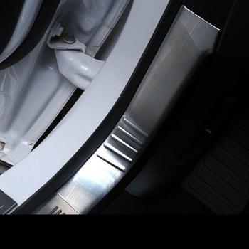 Auto paneles traseros Pedal de pie automóvil mejorado cromo modificado decoración de estilo del coche protector 15 16 17 18 para Ford Edge