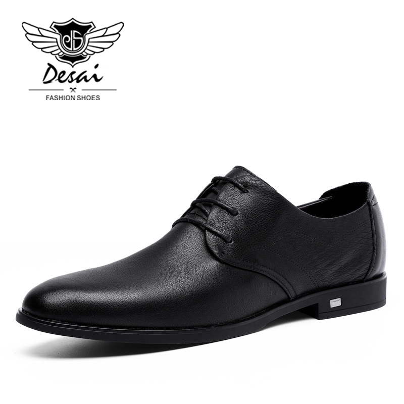 Men's Vulcanize Shoes Men's Shoes Good Fashion High Quality Men Full Grain Leather Business Lace-up Mens Leather Shoes British S Mens Shoes Oxford Clearance Price