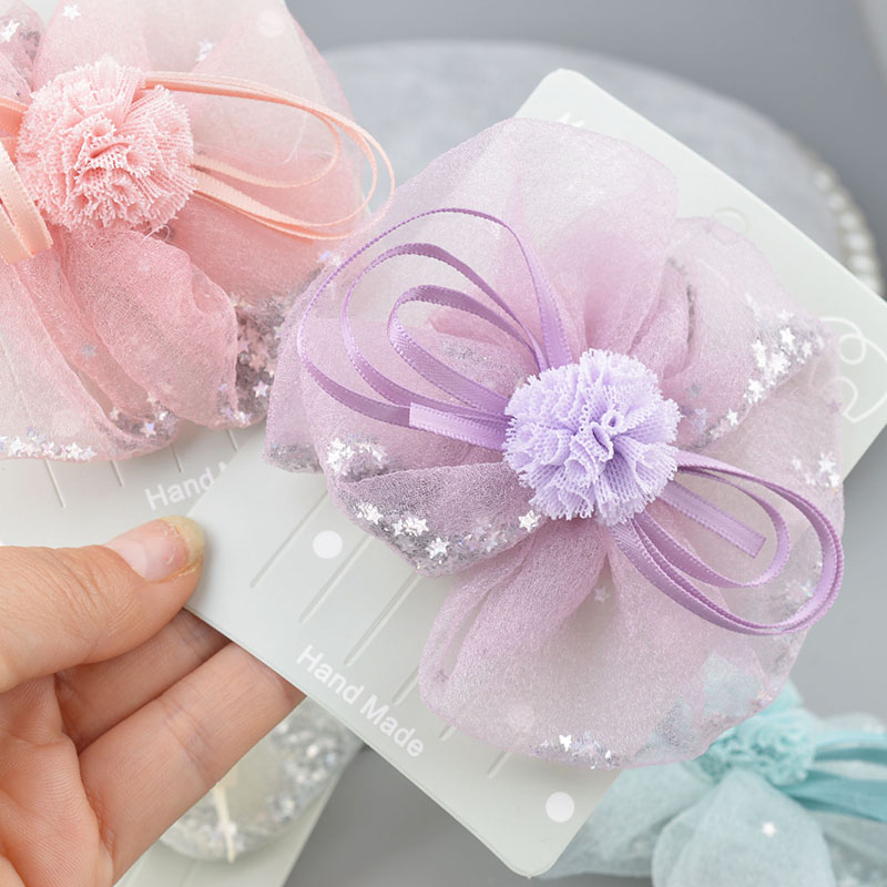 Hot Sale Summer Newborn Kids Chiffon Rose Flower Hair Clips For Baby Girls Children Hairpins   Headwear   Crown Hair Accessories A35
