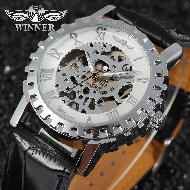 Uhren AnpassungsfäHig Gewinner Uhr Mode Uhren Männer Top Qualität Männer Uhr Fabrik Shop Freies Verschiffen Wrg8036m3s2 Knitterfestigkeit
