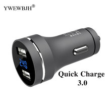 YWEWBJH Car USB Charger Quick Charge Mobile Phone Dual Fast QC 3.0 for Samsung Xiaomi Tablet