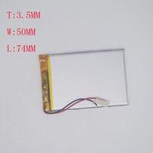 3.7 V Bateria De Lítio Polímero 1300 MAH 305070/355074 CarLog Navegador GPS