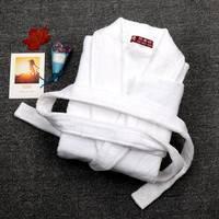 Bathrobes Men Male Thick Cotton Plus size XXL white Terry winter Toweled Pajamas Kimono Men's Bathrobe Mens Sleepwear Long Robe