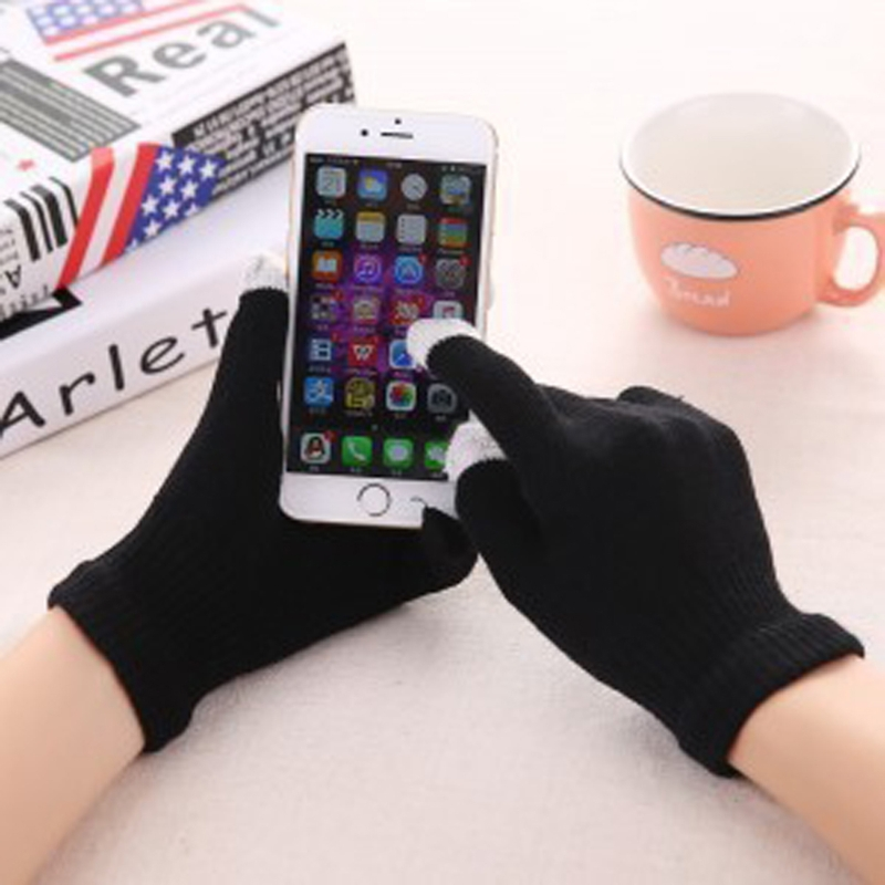 KLV Lovers Unisex Men Women Winter Gloves Mittens Wrist Stretch Outdoor Touch Screen Solid 9 Color Select Fashion New Warmer