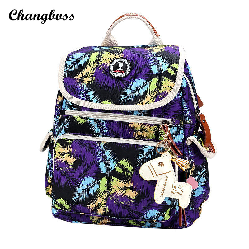Teenagers Printing Backpack School Bags For Teenage Girls Women Men Canvas Backpack Fashion Casual Travel Bags
