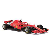 1:18 Simulation alloy car model Toy For Ferra F1 with Steering wheel control front wheel steering toy for Children