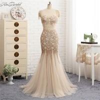 New Beautiful Tulle Evening Dresses Long 2018 Backless Beaded Stones Luxury Prom Dress Mermaid Sleeveless