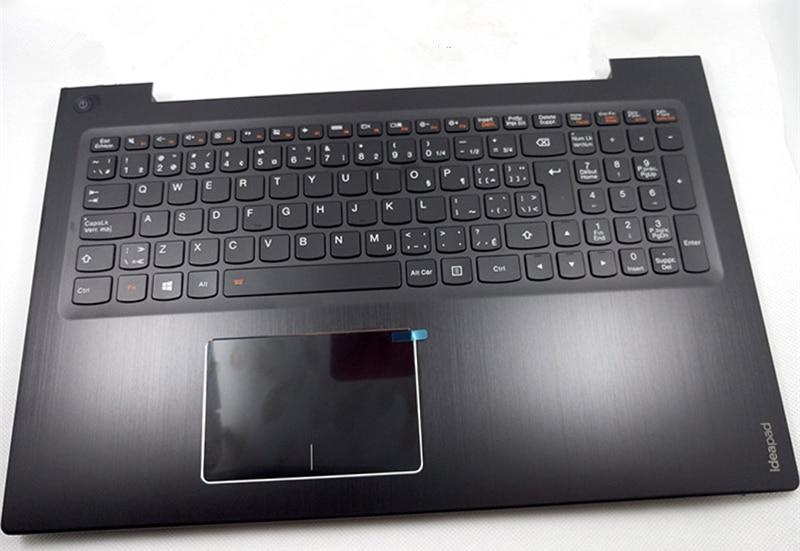 New Original for Lenovo U530 U530P Palmrest Upper Cover Top Case + UK Keyboard Backlit+ Touchpad