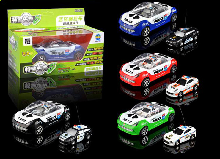 Amazing mini electric RC car remote control police car model toys for children kids boys gift with radio present child
