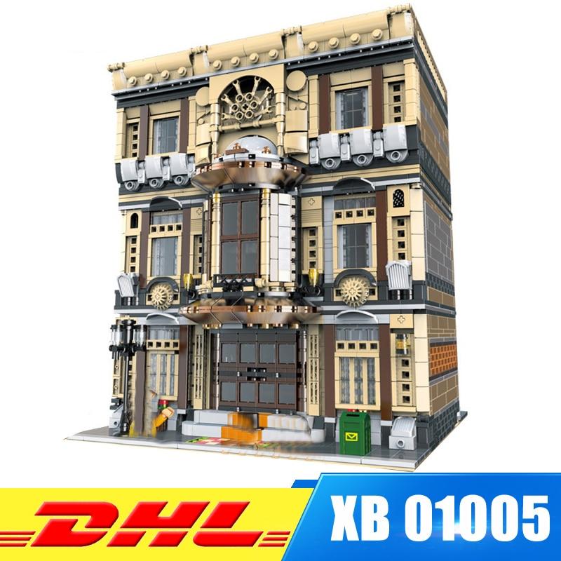 IN Stock XINBAO Block 01005 5052Pcs Genuine Creative MOC City Series The Maritime Museum Set Building Blocks Bricks Toys Model