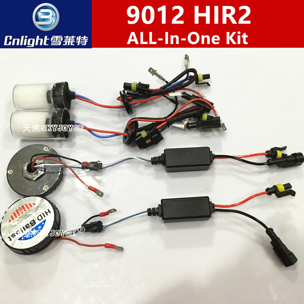 Cnlight 9012 hid canbus kit 12V 35W car light source all in one cnlight HIR2 9012 4300K 5000K 6000K 8000K mini for all skyjoyce xenon hir2 9012 bulb headlight kit hid projector lens 9012 4300k 6000k levin headlight hir2 9012 5000k hid kit