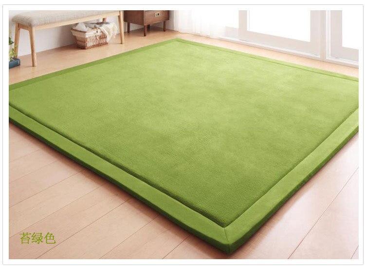 Nouveau 2 CM épais tapis de jeu corail polaire couverture tapis enfants bébé ramper tatami tapis coussin matelas pour chambre - 6