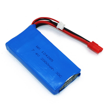 1pcs Lipo Battery 7.4V 2000mAh 30C T/Banana/XT60 Plug Upgrade Lipo Battery for Syma X8C X8W Quadcopter