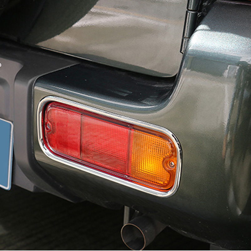 Free Shipping High Quality ABS Chrome Rear Fog lamps cover Trim Fog lamp shade Trim For SUZUKI Jimny in Car Stickers from Automobiles Motorcycles