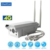 OwlCat Wireless IP Camera 3G 4G SIM Card AP Wifi Hotspot 1080P 960P P2P CCTV Bullet Outdoor Camera Miscro SD Card Slot Max 128G