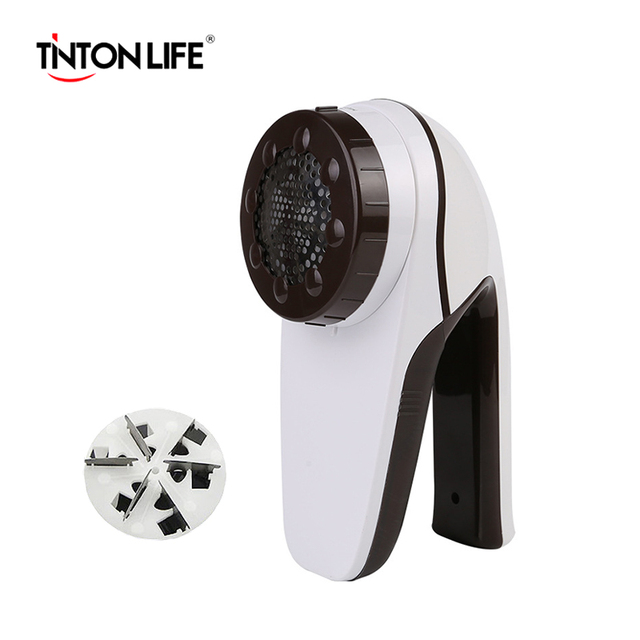 TINTON LIFE Professional Rechargeable Clothes Lint Remover for Home Travelling Six-vane Blade Efficient Fabric Large Fuzz Shaver Lint Removers