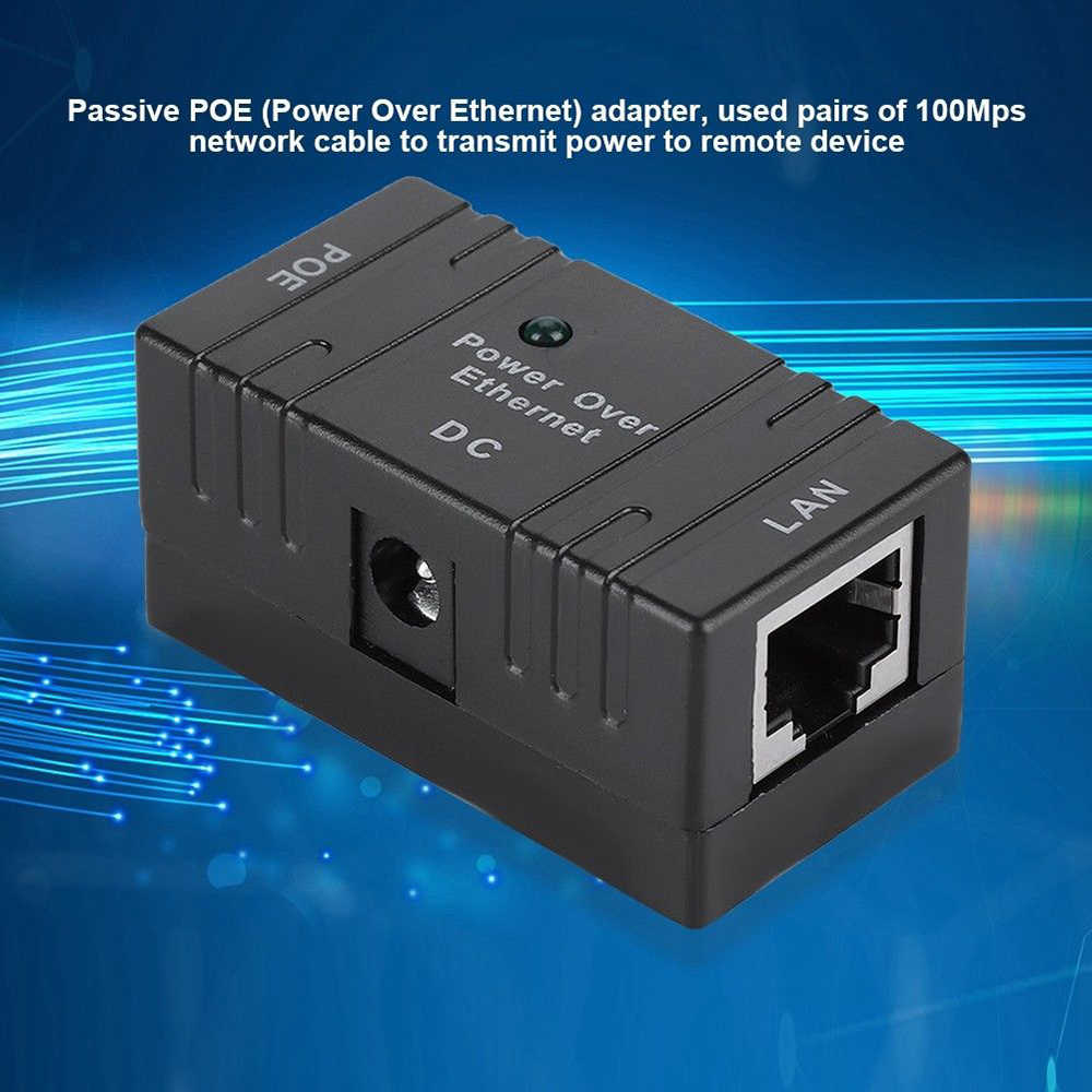 1 pc ブラック RJ45 POE インスイッチ電源アダプタの HIKVISION 大化 IP カメラ