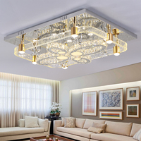 Crystal lamp living room lamp simple modern atmosphere home rectangle bubble column living room bedroom lamp led ceiling lamp