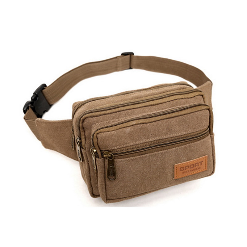 NIBESSER High Quality Canvas Men Waist Pack Casual Bum Hip Bag Belt Phone Bag Case Fanny Pack For Women Men Travel Waist Bag high quality casual men bag