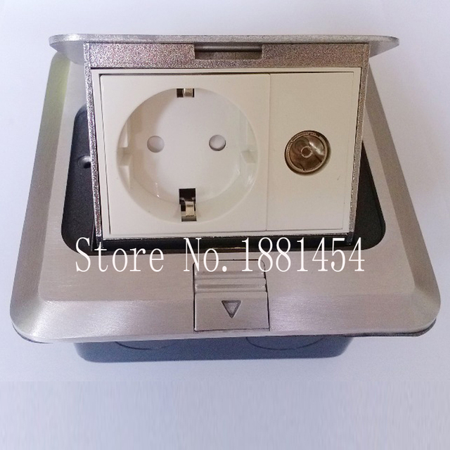Electrical floor sockets ground outlet european stand computer phone ...